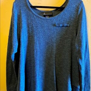 Lane Bryant Blue Light Sweater with Lace Detail